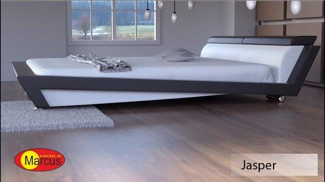 łóżko tapicerowane Jasper skóra ekologiczna
