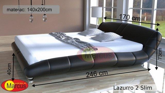łóżko lozko Lazurro 2  140x200 cm