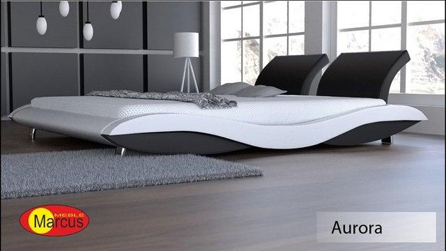 łóżko Tapicerowane Aurora Skóra Ekologiczna Autorska Kolekcja