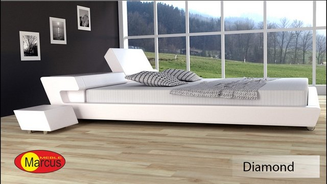 łóżko tapicerowane Diamond skóra ekologiczna
