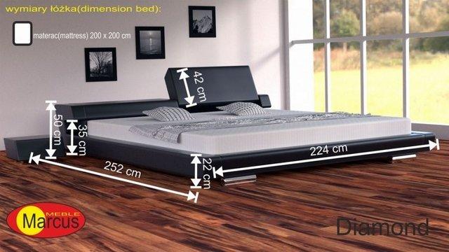 łóżko tapicerowane Diamond 200x200 cm