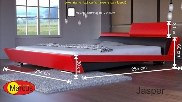 łóżko tapicerowane Jasper 180x200 cm