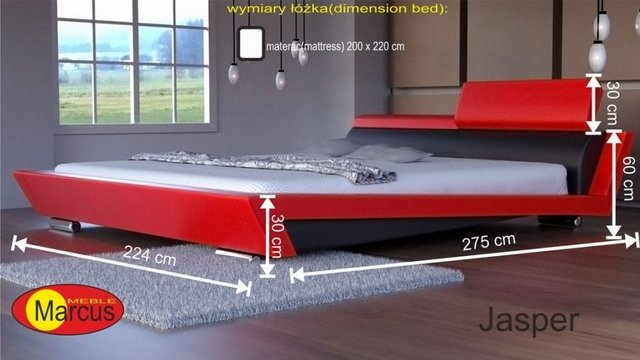 łóżko tapicerowane Jasper 200x220 cm