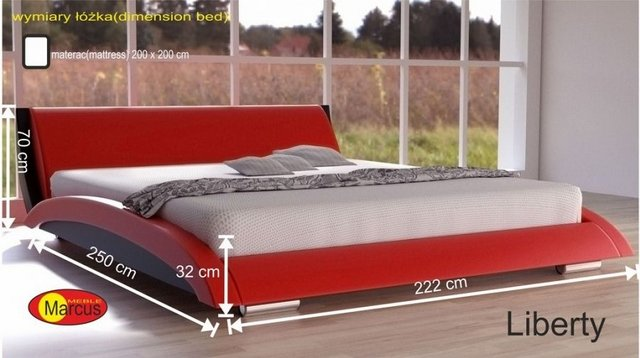 łóżko liberty 200x200 cm
