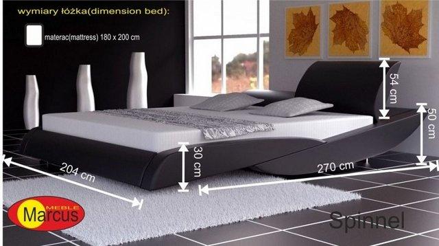 łóżko tapicerowane Spinnel 180x200 cm