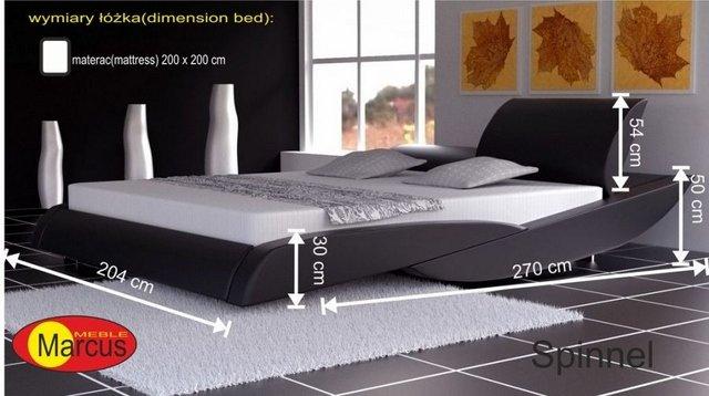 łóżko tapicerowane Spinnel 200x200 cm