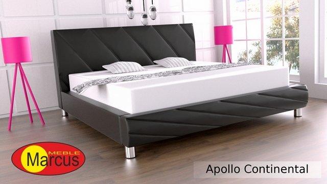 łóżko Kontynentalne Apollo Ze Skóry Naturalnej Autorska Kolekcja