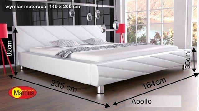 łóżko apollo tapicerowane 140x200 cm