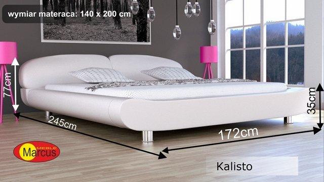 łóżko kalisto tapicerowane 140x200 cm