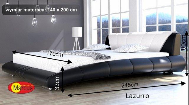 łóżko Lazurro tapicerowane 140x200 cm