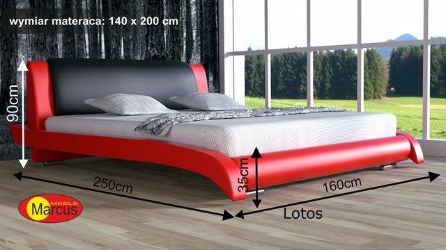 łóżko Lotos tapicerowane 140x200 cm