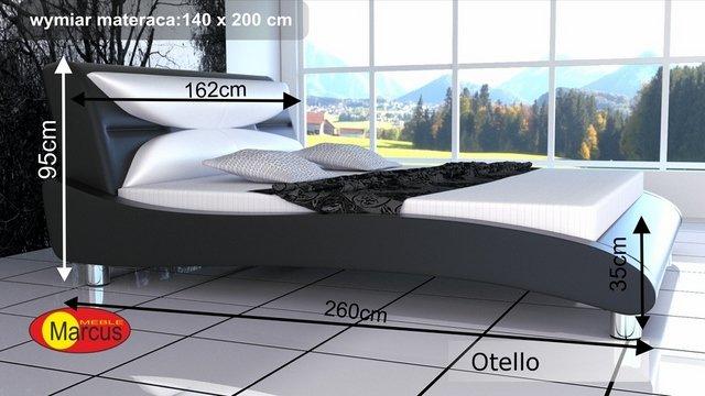 łóżko otello tapicerowane 140x200 cm