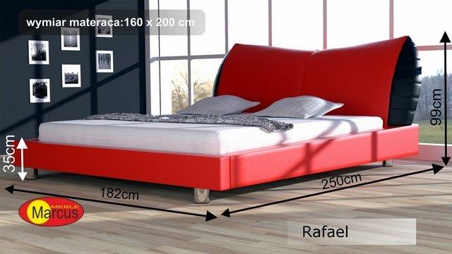 Nowoczesne łóżko Tapicerowane Rafael Skóra Ekologiczna