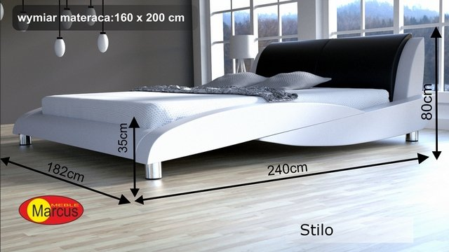 łóżko tapicerowane stilo 160x200 cm