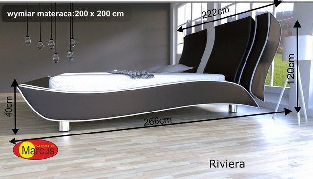 łóżko riviera 200x200 cm