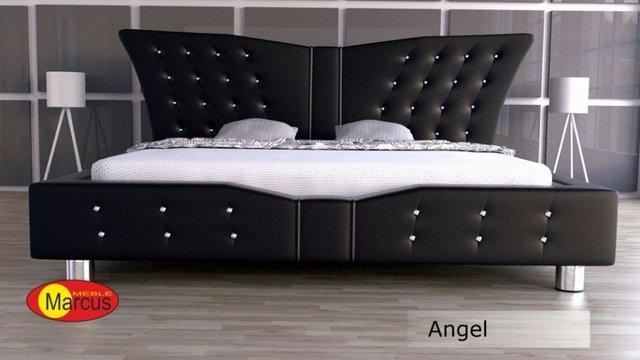 łóżko Angel z krształkami Swarovski skóra ekologiczna