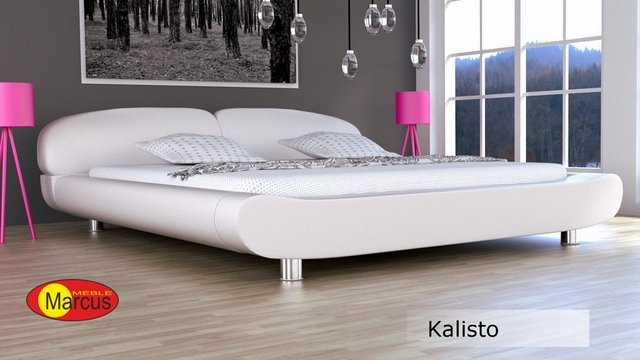 łóżko tapicerowane Kalisto skóra ekologiczna