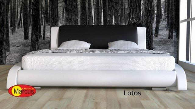 łóżko tapicerowane Lazurro skóra ekologiczna
