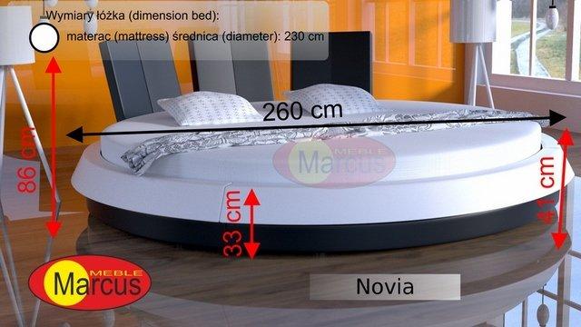 łóżko novia skóra ekologiczna