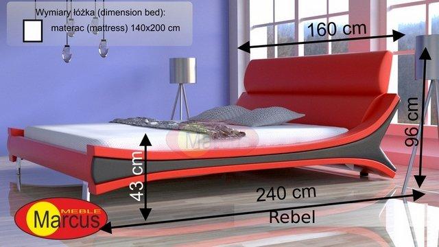 łóżko lozko rebel 140x200 cm