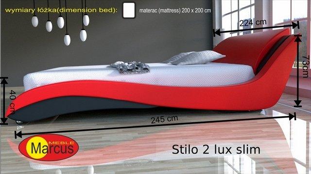 łóżko Stilo 2 lux slim 200x200 cm