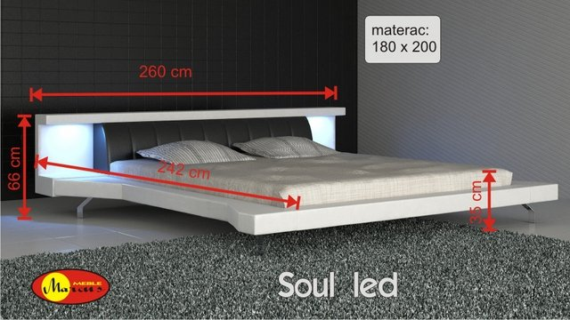 łóżko Soul led 180x200 cm