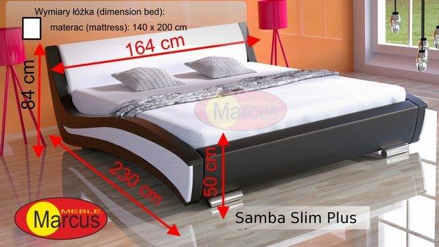 łóżko lozko Samba slim plus 140x200 cm
