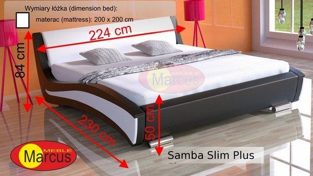 łóżko Samba slim plus 200x200 cm