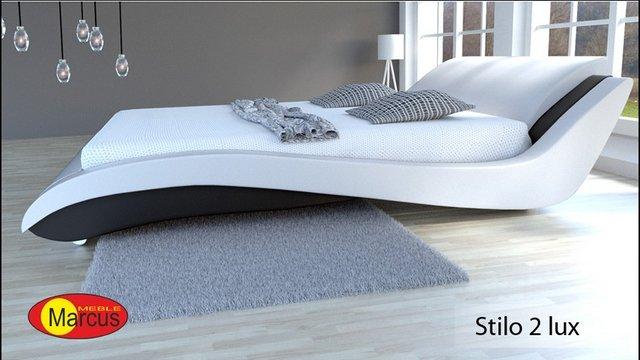 łóżko stilo 2 lux skóra ekologiczna