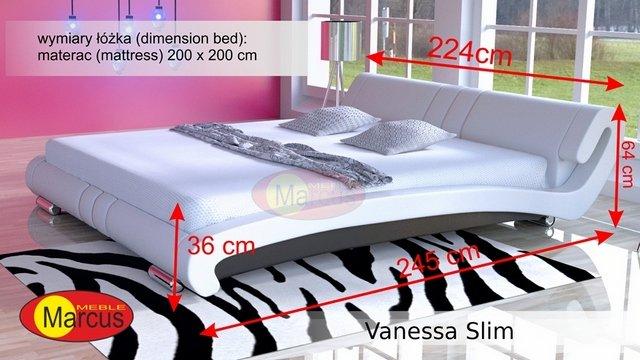łóżko vanessa slim 200x200 cm