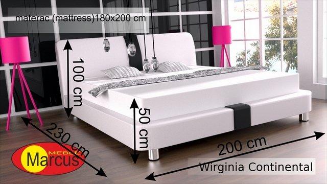łóżko kontynentalne wirginia 180x200 cm